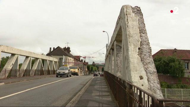 Oise : un pont menacé d'effondrement