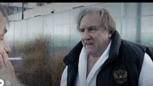 """Gérard Depardieu et Michel Houellebecq réunis dans le film """"Thalasso"""" dont la sortie est prévue pour le mercredi 21 août 2019. (CAPTURE D'ÉCRAN FRANCE 3)"""