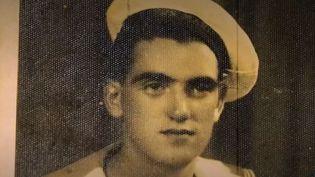 Le vétéran français Léon Gautier, membre du commando Kieffer, dansles années 1940. (FRANCE 3)