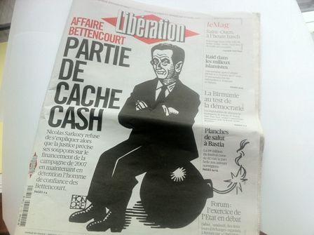 Vue de la Une du quotidien Libération, le 31 mars 2012 (DM)
