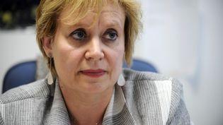 La juge Isabelle Prévost-Desprez, vice-présidente au tribunal de Nanterre, en charge d'investigations dans l'affaire Bettencourt en 2010, photographiée ici à Nanterre (Hauts-de-Seine), le 2 septembre 2010. (FRED DUFOUR / AFP)