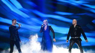 Les candidats de la Norvège à l'Eurovision lors de la répétition pour la deuxième demi-finale, le 15 mai 2019 à Tel Aviv (Israël). (VLADIMIR ASTAPKOVICH / SPUTNIK / AFP)