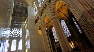 L'intérieur de la cathédrale de Chartres en cours de rénovation (15 septembre 2015)  (Guillaume Souvant / AFP)