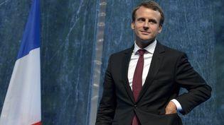 Le ministre de l'Economie, Emmanuel Macron, à l'université d'été du Medef à Jouy-en-Josas (Yvelines), le 27 août 2015. (ERIC PIERMONT / AFP)