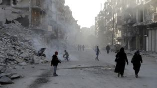 La ville d'Alep (Syrie), le 9 mars 2017. (JOSEPH EID / AFP)