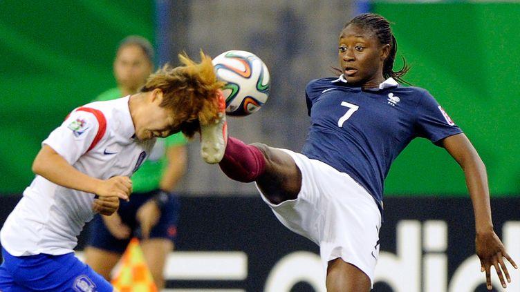 Kadidiatou Diani, ici en quart de finale du Mondial des U-20 face à la Corée (RICHARD WOLOWICZ / GETTY IMAGES NORTH AMERICA)