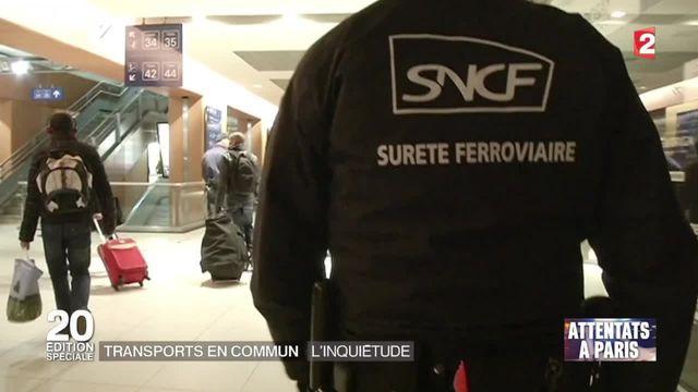 Attentats de Paris : l'inquiétude dans les transports en commun
