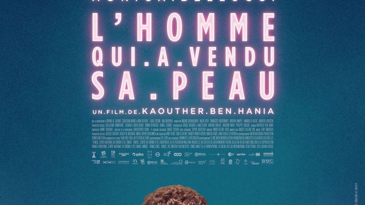 """Affiche du film """"L'Homme qui a vendu sa peau"""" de la Tunisienne Kaouther Ben Hania (BAC FILMS)"""
