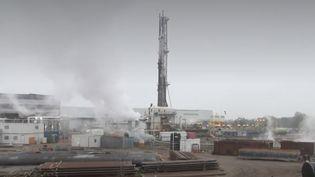Un site de centrale géothermique en phase de développementà Vendenheim dans le Bas-Rhin. (CAPTURE D'ÉCRAN FRANCE 3)