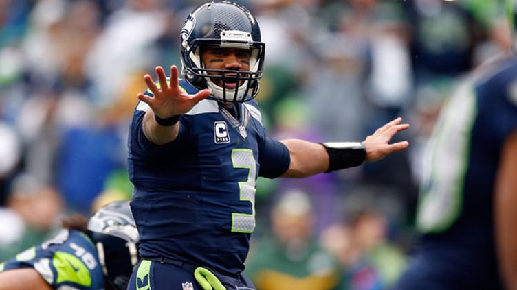 Le quaterback des Seattle Seahawks, Russell Wilson