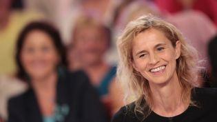"""Delphine de Vigan figure parmi les finalistes du prix Renaudot avec son roman """"D'après une histoire vraie"""" (JC Lattès)  (Frédéric Dugit / PhotoPQR / Le Parisien / MAXPPP)"""