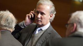 Georges Tron, le 2 février 2012 àLongjumeau (Essonne). (LIONEL BONAVENTURE / AFP)
