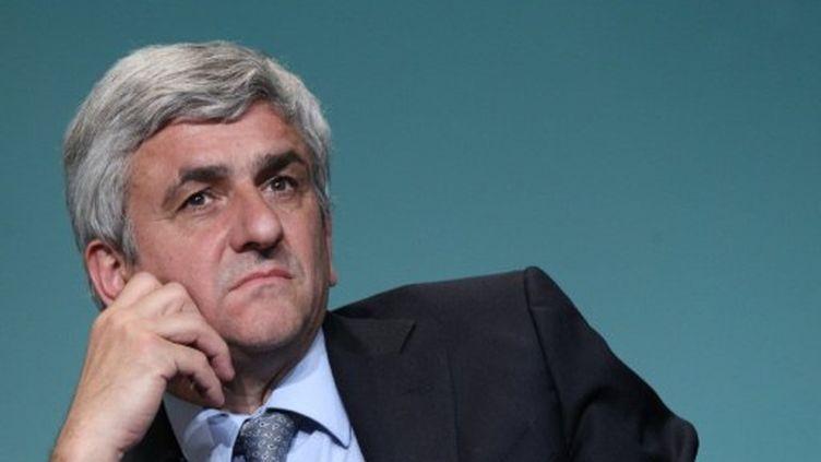 Hervé Morin, lors du Conseil National du Nouveau Centre, le 7 mai 2011, à Versailles (THOMAS SAMSON/AFP)
