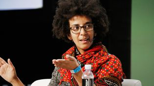 Timnit Gebru lors d'un colloque à San Francisco le 3 septembre 2018. (KIMBERLY WHITE / GETTY IMAGES NORTH AMERICA)