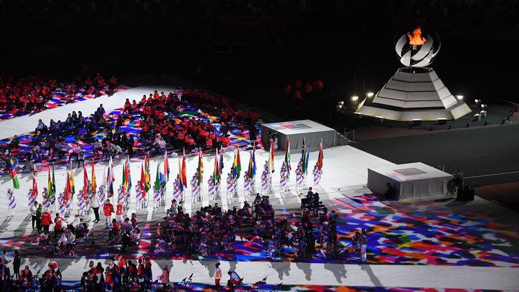 La cérémonie de côture des Jeux paralympiques, le 5 septembre à Tokyo. (ILYA PITALEV / AFP)