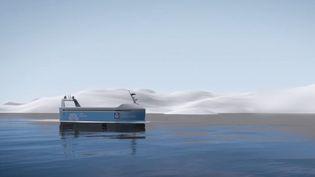 Prototype de cargo électrique norvégien. (FRANCE 2)