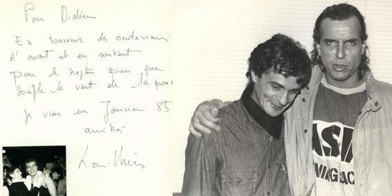 Didier Geslain et Bernard Lavilliers. Les deux hommes se sont connu alors qu'ils fréquentaient un restaurant libertaire, le San Piero Corso, où chacun payait selon ses revenus  (Didier Geslain)