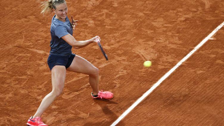 Fiona Ferro a manqué la qualification pour son premier quart de finale en Grand Chelem. (STEPHANE ALLAMAN / STEPHANE ALLAMAN)