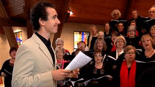 Cyrille Dubois dirige la chorale de Ouistreham  (Cyrille Dubois)