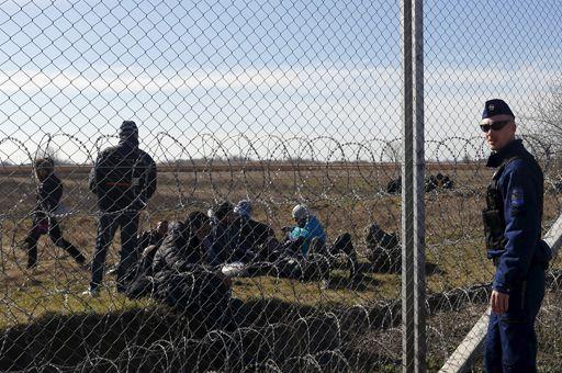 A la frontière entre la Hongrie et la Serbie le 22 février 2016 (Rueters - Laszlo Balogh )