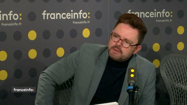 Sébastien Boussois, chercheur en sciences politiques à l'ULB à Bruxelles, était l'invité de franceinfo mercredi 13 novembre 2019. (FRANCEINFO / RADIOFRANCE)