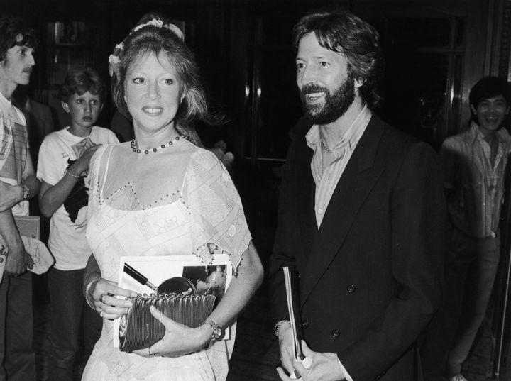 Pattie Boyd et Eric Clapton au gala de charité du Prince Charles, à Londres le 20 juillet 1983 (DAVE HOGAN / HULTON ARCHIVE)