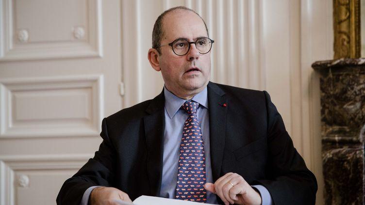 Philippe Laurent, secrétaire général del'association des maires de France (AMF), estime que la réforme de la taxe d'habitation pourrait générer un manque de dix milliards d'euros de recettes pour les collectivités territoriales. (MARLENE AWAAD / MAXPPP)
