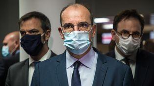 Le Premier ministre, Jean Castex, le 25 juillet 2020, à l'aéroport Charles de Gaulles. (CHRISTOPHE PETIT TESSON / AFP)
