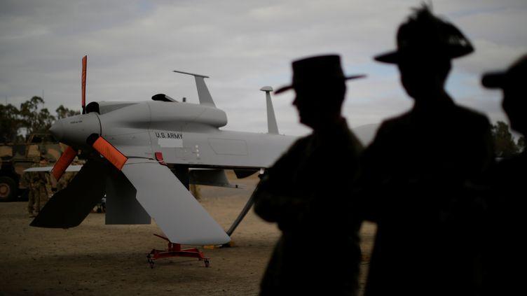 Drone militaire américain (photographié lors d'un exercice en Australie le 13 juillet 2017) (JASON REED / X00458)