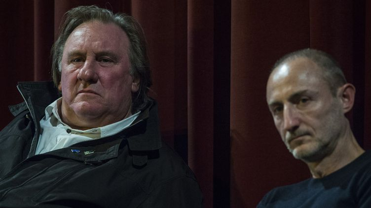 Gérard Depardieu et Guillaume Nicloux à la Berlinale, 14 février 2016  (John MacDougall / AFP)