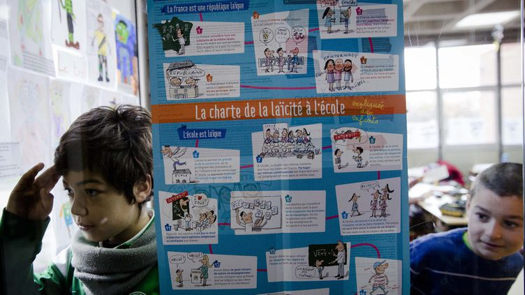 (La charte de la laïcité fait sa rentrée à l'école © Maxppp)