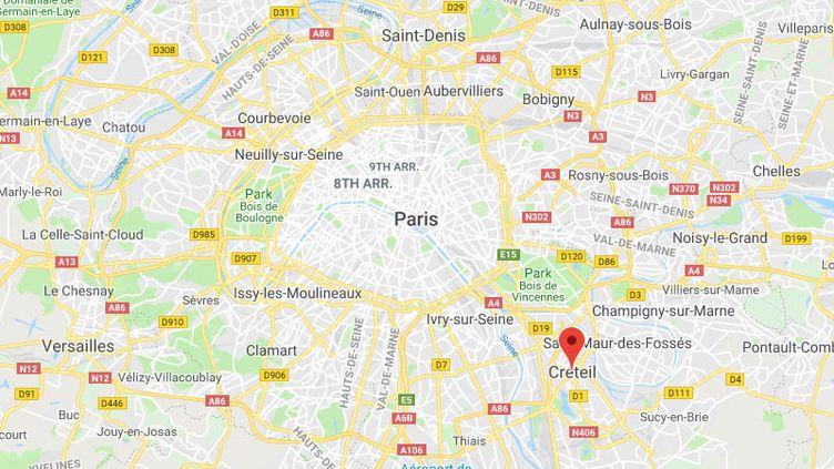 La ville de Creteil, dans le Val-de-Marne. (GOOGLE MAPS)