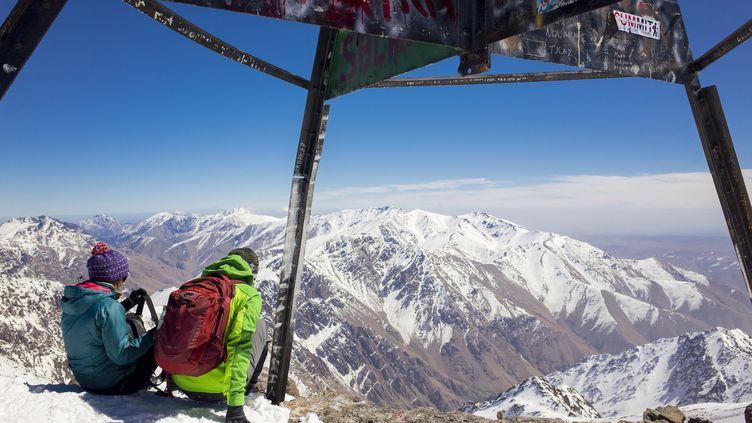 Le sommet du Djebel Toubkal, point culminant du haut Atlas et de l'Afrique du nord. (HEINTZ JEAN / HEMIS.FR / HEMIS.FR)