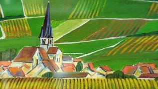 """Exposition """"Pays de Champagne"""" d'Anne-Marie Laroque à l'office de tourisme d'Epernay  (France 3 / Culturebox / capture d'écran)"""