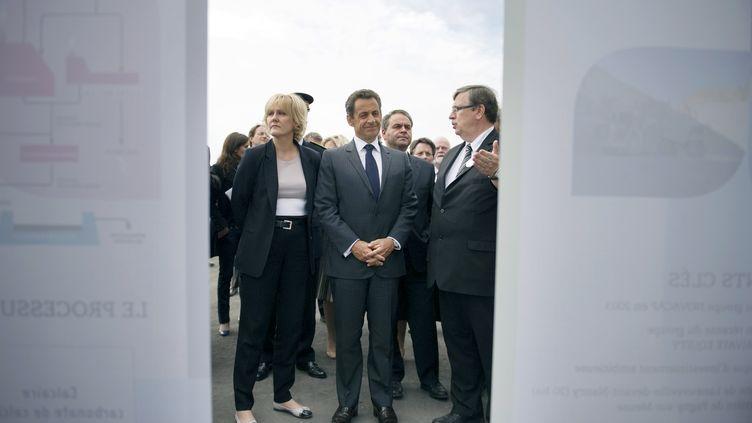 Nicolas Sarkozy et Nadine Morano, le 17 mai 2011. (LIONEL BONAVENTURE / POOL)