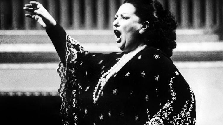 La cantatrice Montserrat Caballé, à Vienne (Autriche), le 1er septembre 1979. (AFP)