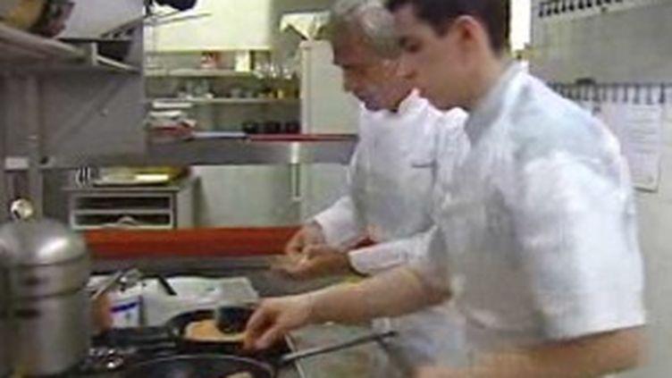Les cuisines de l'Assiette Champenoise, à Reims. ((c) France 3)