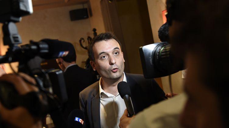 Le vice-président du Frontnational, Florian Philippot, le 13 juin 2015 à Paris. (LOIC VENANCE / AFP)