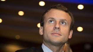 Le ministre de l'Economie, Emmanuel Macron, le 9 octobre 2015 à Paris lors du congrès des avocats organisé par le conseil national des barreaux. (JOEL SAGET / AFP)