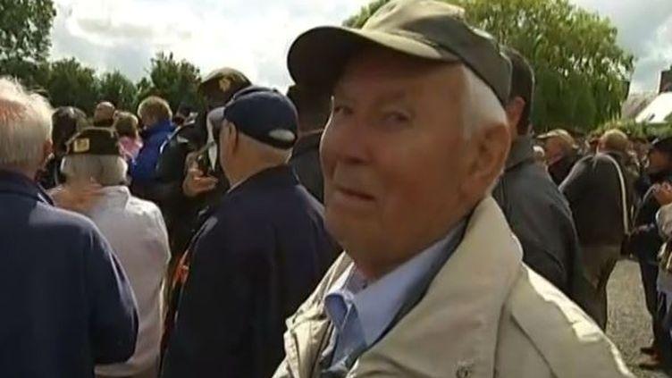 Capture d'écran le 5 juin 2014 -Paul Golz, un vétéran allemand de 88 ans a été arrêté le 9 mai 1944 à Sainte-Mère-Église (Manche) ( FRANCE 2 / FRANCETV INFO )