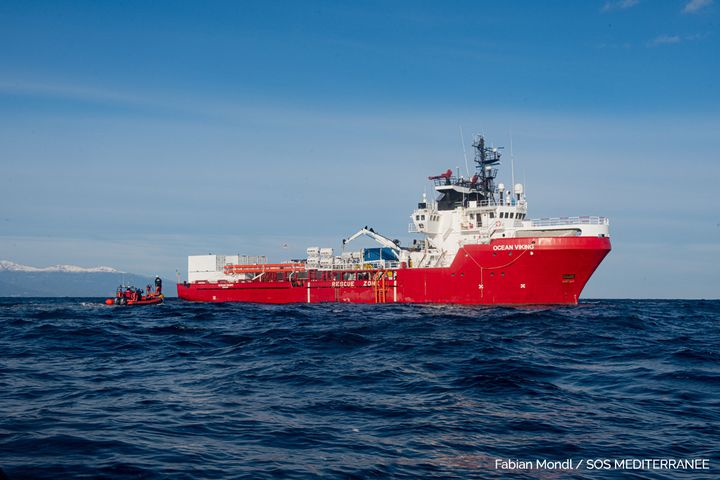 L'Ocean Viking, bateau de SOS Méditerranée, en janvier 2021 (FABIAN MONDL / SOS MEDITERRANEE)