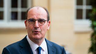 Le Premier ministre, Jean Castex, à l'hôtel de Matignon, le 17 juillet 2020. (XOS? BOUZAS / HANS LUCAS / AFP)