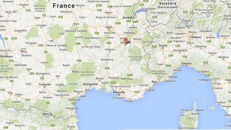 Un Tunisien de 28 ans, soupçonné de recruter des jihadistes pour la Syrie, a été arrêté mardi 3 juin 2014 à Grenoble (Isère). (GOOGLE MAPS)