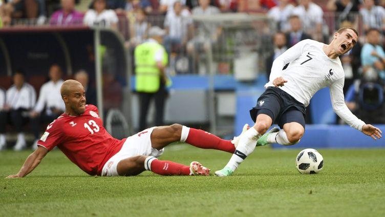 L'attaquant de l'équipe de France, Antoine Griezmann, le 26 juin 2018 à Moscou (Russie). (ANDREW SURMA / NURPHOTO / AFP)