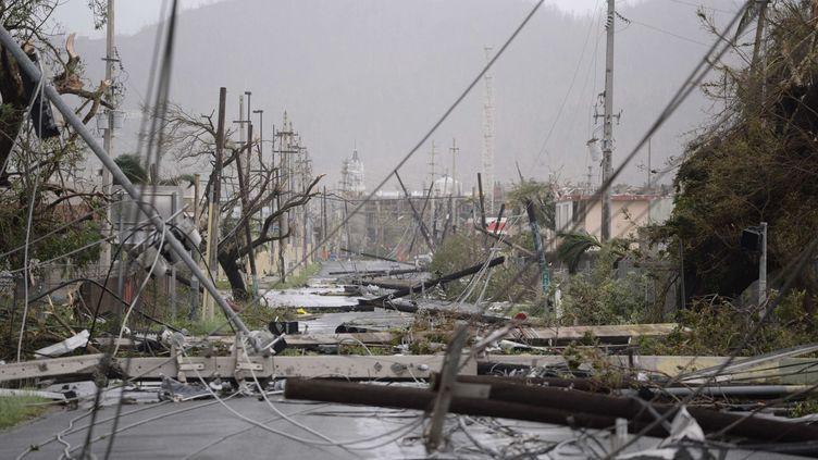 AHumacao, sur l'île américaine de Porto Rico, le 20 septembre 2017. (CARLOS GIUSTI/AP/SIPA / AP)