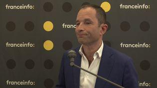 Benoît Hamon, tête de liste de Génération.s pour les élections européennes du 26 mai, était l'invité de franceinfo jeudi 23 mai 2019. (FRANCEINFO)