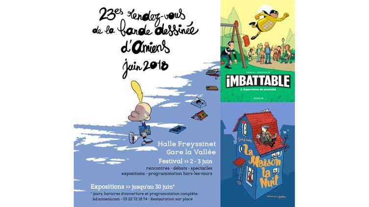 TITEUF, DANS L'OMBRE DE LA CATHEDRALE D'AMIENS (ZEP, ON A MARCHE SUR LA BULLE / JOUSSELIN, DUPUIS / NICOBY, LA GOUTTIERE)