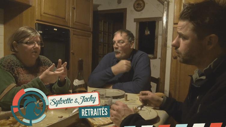 Sylvette et Jacky, un couple de retraités vivant à Marnaval (Haute-Marne) (RAPHAËL KRAFFT ET ALEXIS MONCHOVET)