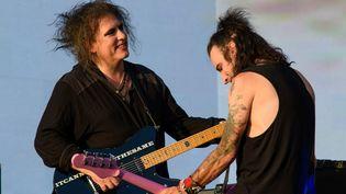 Robert Smith et Simon Gallup de The Cure au British Festival à Hyde Park le 7 juillet 2018.  (Matt Crossick/ Press Association Images / MaxPPP)