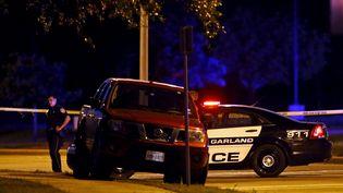 Deux hommes sont morts dans une fusillade, près d'un concours de caricatures de Mahomet à Garland,au Texas (Etats-Unis), le 3 mai 2015. (MIKE STONE / REUTERS)